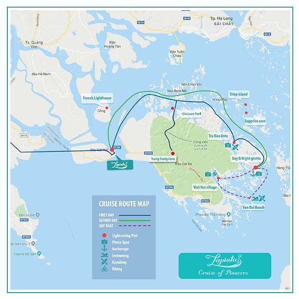 la pinta cruise route map
