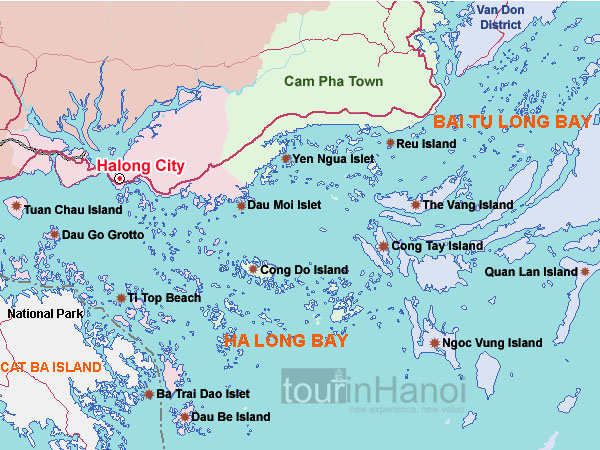 halong day cruise route