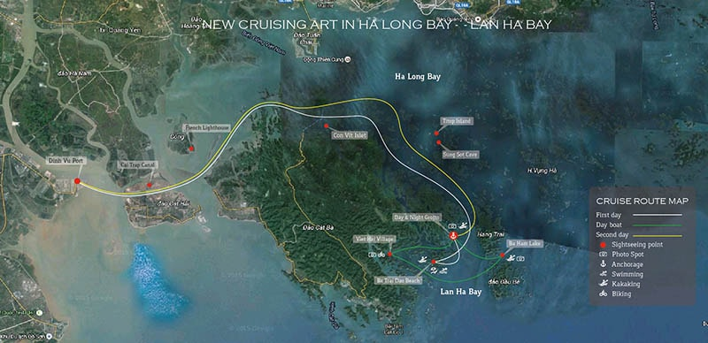 orchid cruise itinerary map