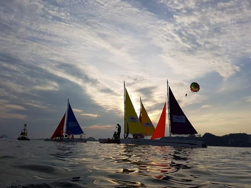 windsurfing halong bay